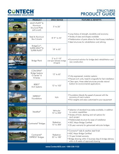 Structures PRODUCT GUIDE