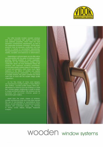 wooden window systems
