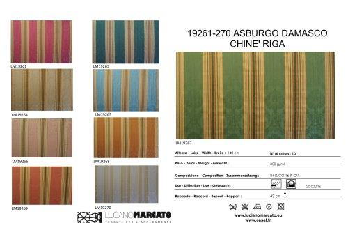 19261-270 ASBURGO DAMASCO CHINE' RIGA