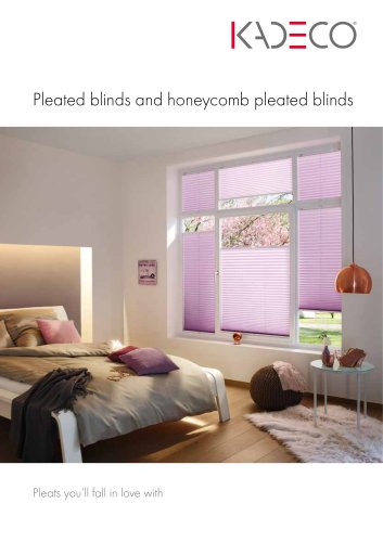 Pleated blinds and honeycomb pleated blinds