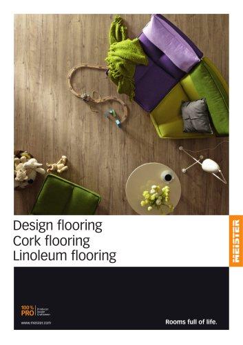 Design flooring Cork flooring Linoleum flooring