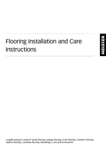 Flooring Installation and Care Instructions