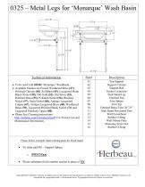 0325 – Metal Legs for 'Monarque' Wash Basin