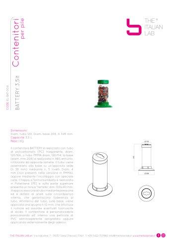BATTERY 3,5lt Contenitori per pile
