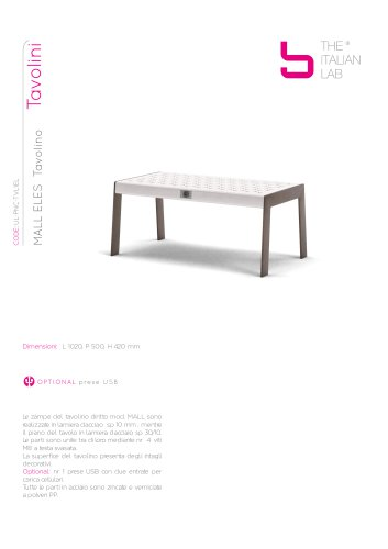 MALL ELES Tavolino Tavolini