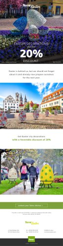 Easter city decorations with a discount of 20%