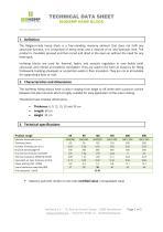 Technical data sheet - Hempcrete blocks