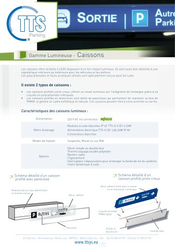 Gamme Lumineuse - Caissons