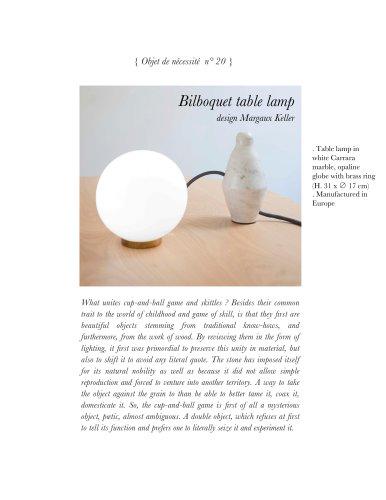 Bilboquet table lamp