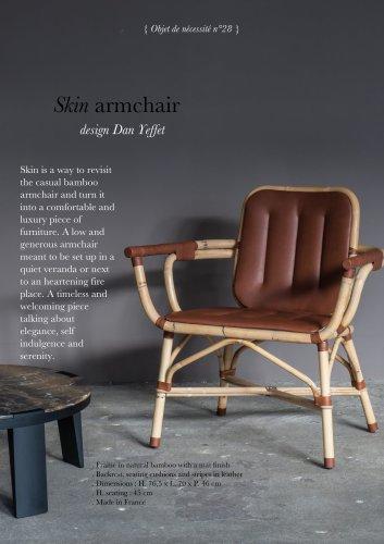 Skin armchair