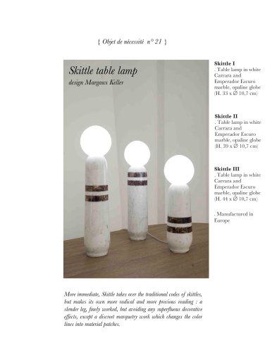 Skittle table lamp
