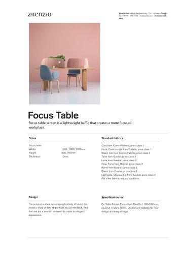 Focus Table