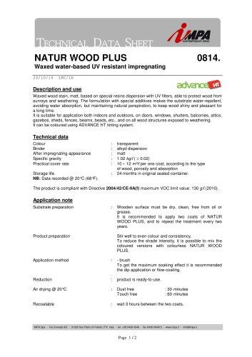 NATUR WOOD PLUS 0814