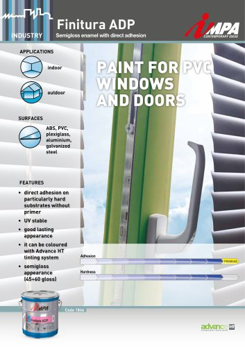 PAINT FOR PVC WINDOWS AND DOORS