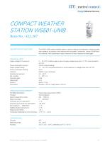 COMPACT WEATHER STATION WS501-UMB