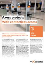 Axess protects With contactless access