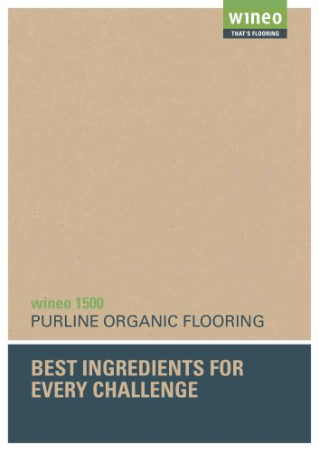 PURLINE organic flooring wineo 1500