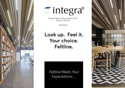 Feltline ceiling system - brochure