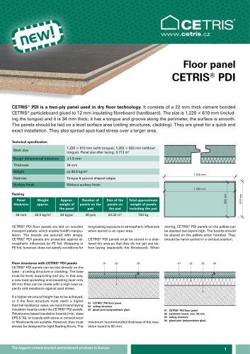 Floor panel CETRIS® PDI