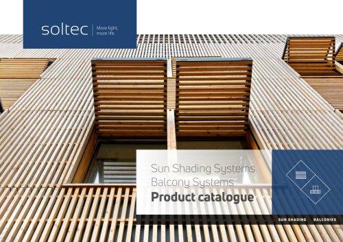 Soltec Sunshading systems Product catalogue