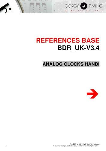 Analog clock HANDI® reference base
