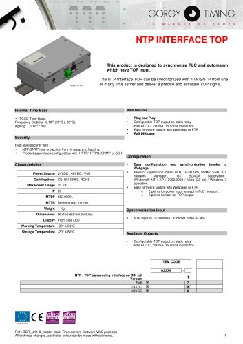 NTP INTERFACE TOP