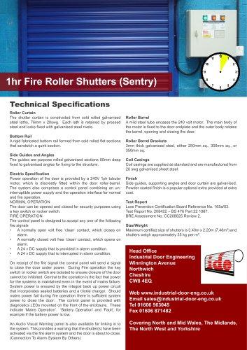 1hr Fire Roller Shutters (Sentry)