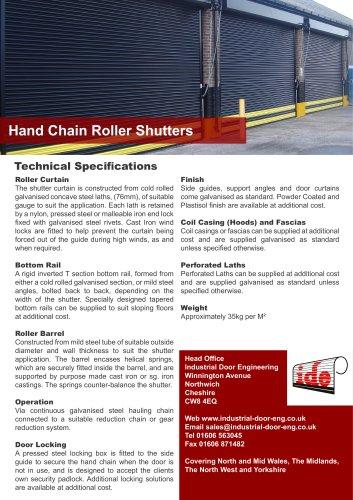Hand Chain Roller Shutters