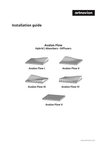 Avalon Flow Hybrid | Absorbers - Diffusers Installation guide
