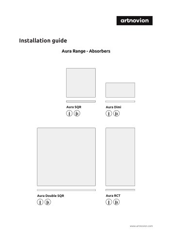 Installation guide Aura Range - Absorbers