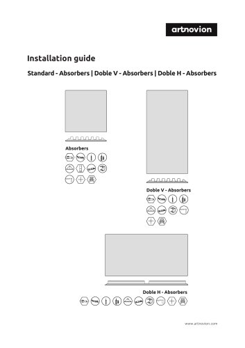 Standard - Absorbers | Doble V - Absorbers | Doble H - Absorbers  Installation guide