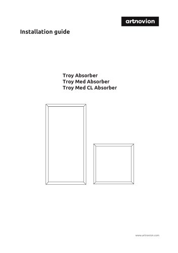 Troy Med CL Absorber Installation guide