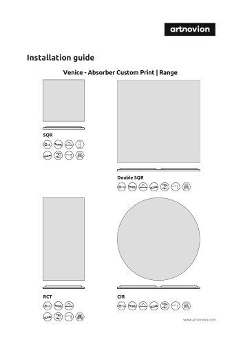 Venice - Absorber Custom Print | Range  Installation guide
