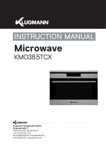 Microwavev KM038.5TCX