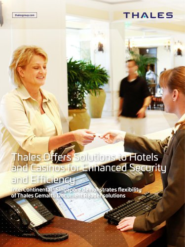 Thales Offers Solutions to Hotels and Casinos for Enhanced Security and Efficiency