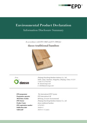 dasso traditional bamboo