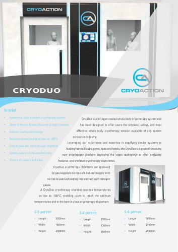 Whole Body Cryotherapy CryoAction Cryoduo
