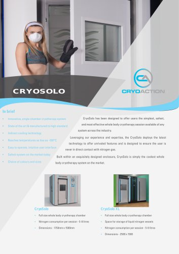 Whole Body Cryotherapy Cryoaction Cryosolo