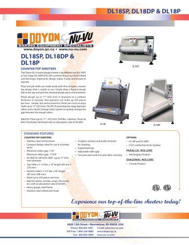 "DL18SP Counter-top 18"" Dough Sheeter   250 pieces/Hour"