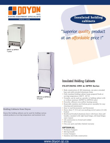 Insulated Holding Cabinet DWI18