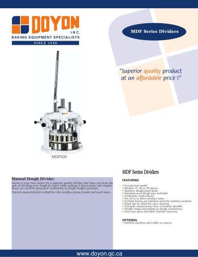 Manual Dough Dividers MDF830
