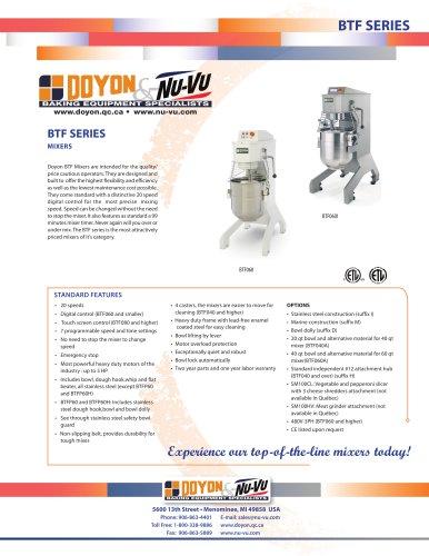 Planetary mixers BTF010