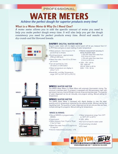 WM45 Digital Water Meter with Hot and Cold Water Inlets