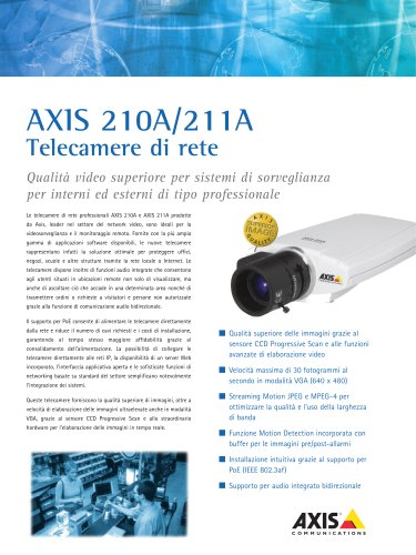 AXIS 210A/211A Network Cameras