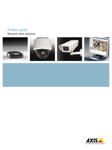 Product Guide - Network video solutions