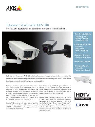Telecamere di rete serie AXIS Q16