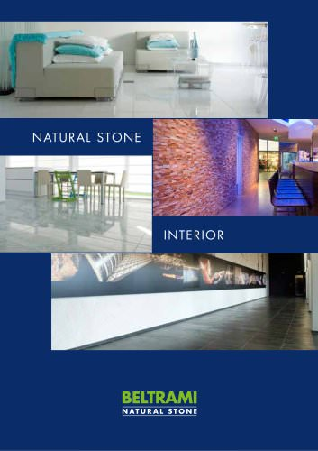 Natural stone guide for internal materials