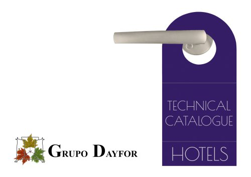Technical catalogue hotels