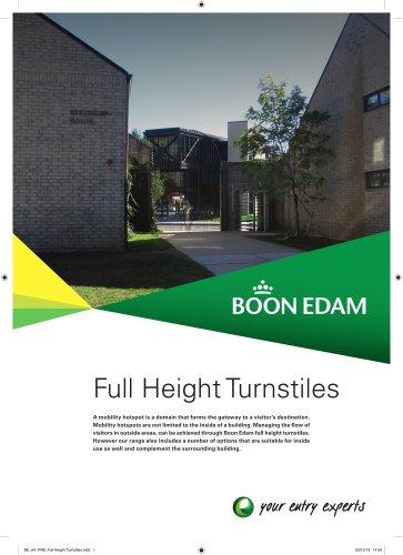 Full Height Turnstiles Product Range Brochure