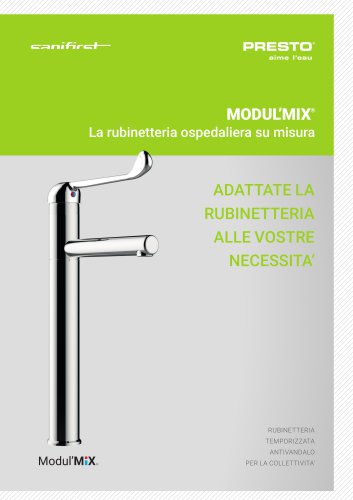 MODULMIX® - rubinetteria ospedaliera su misura